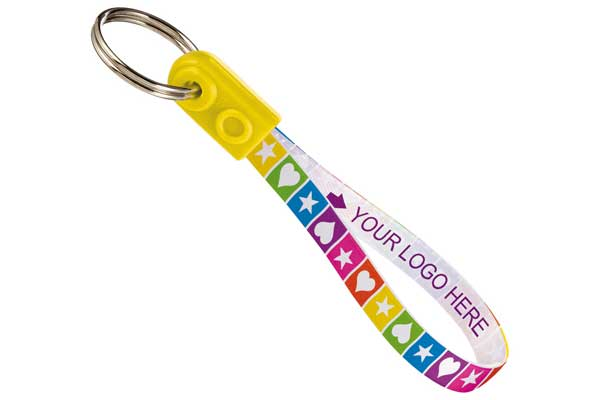 branded loop keyring
